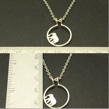 Load image into Gallery viewer, Silver Elephant Ring Holder Necklace