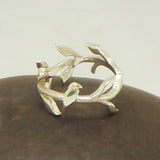 Silver Bird and Branch Ring