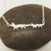 Load image into Gallery viewer, Silver Mother and Child Fox Necklace