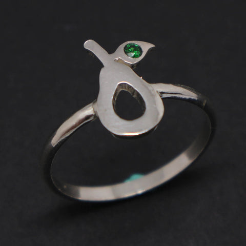 Silver Avocado Ring
