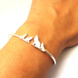 Mother and Daugther Wolf Bracelet
