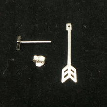 Load image into Gallery viewer, Silver Arrow Jacket Earring Stud
