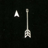 Silver Arrow Jacket Earring Stud