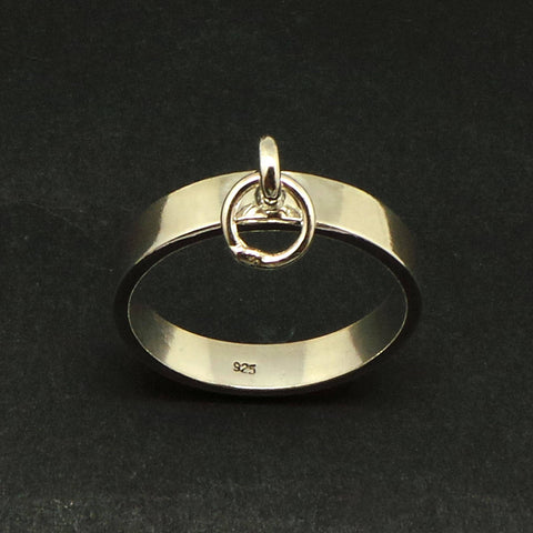 4mm Silver Ring of O Bdsm Collar Ring