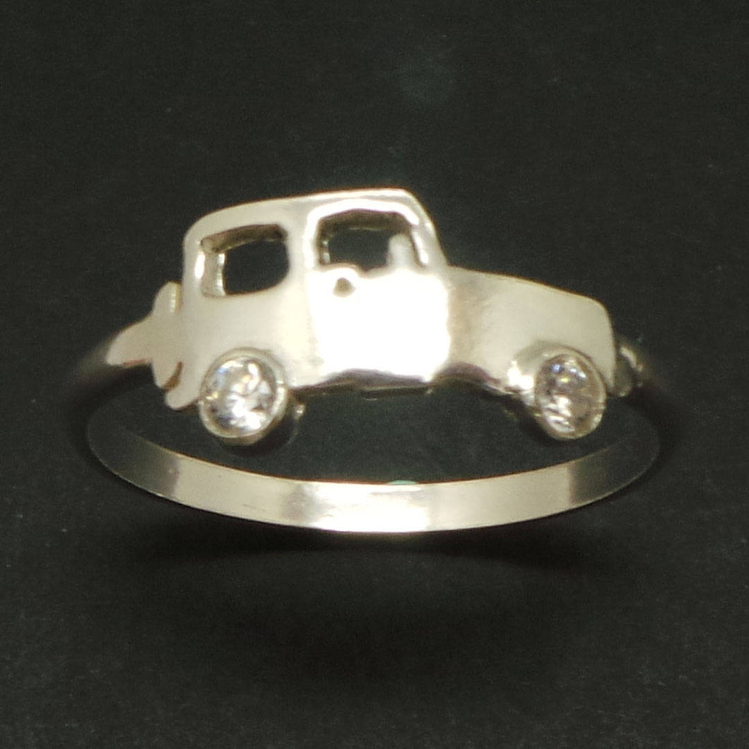 Silver Vehicle Jeep Ring