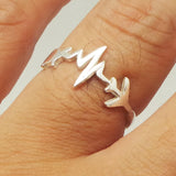 Silver Heartbeat Airplane Ring