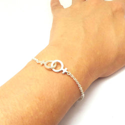 Silver Gay Male Symbol Bracelet Bangle