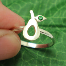 Load image into Gallery viewer, Silver Avocado Ring