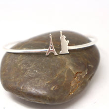 Load image into Gallery viewer, Silver Paris France to New York Bracelet