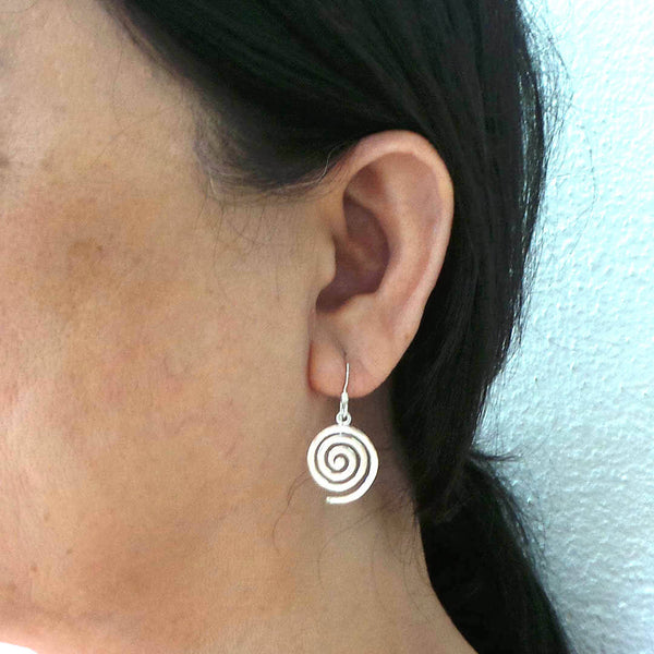 925 Silver Single Spiral Earring
