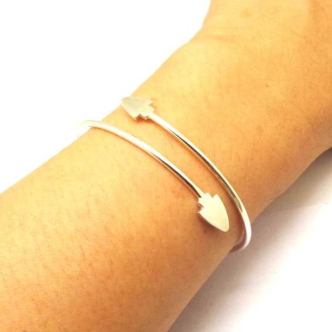 Silver Arrowhead Bracelet Bangle