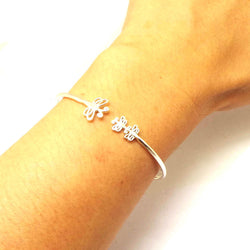 Silver Mother and Child Dragonfly Bracelet