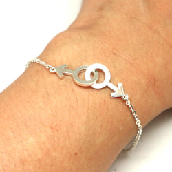 Gay Male Symbol Interlocking Bracelet
