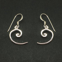 Load image into Gallery viewer, Silver Fibonacci Spiral Math Earring