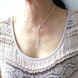 Mother and Child Knot Lariat Necklace
