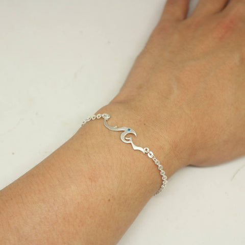 sterling down cord vacation dp wave shore ocean bracelet the amazon com silver