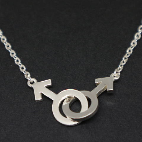 Gay Pride Male Symbol Necklace Choker