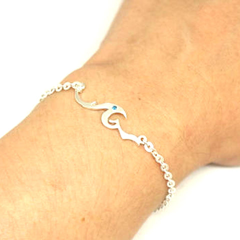 jewelry beach surfer dainty delicate bracelet ocean sea item sanlan wave