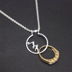 Mountain Ring Holder Necklace Pendant