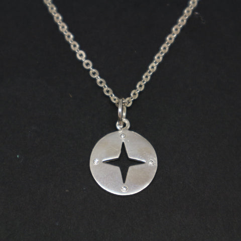 Personalized Compass Necklace