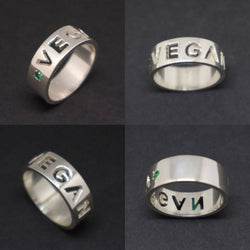 Vegan Engagement Wedding Men Ring
