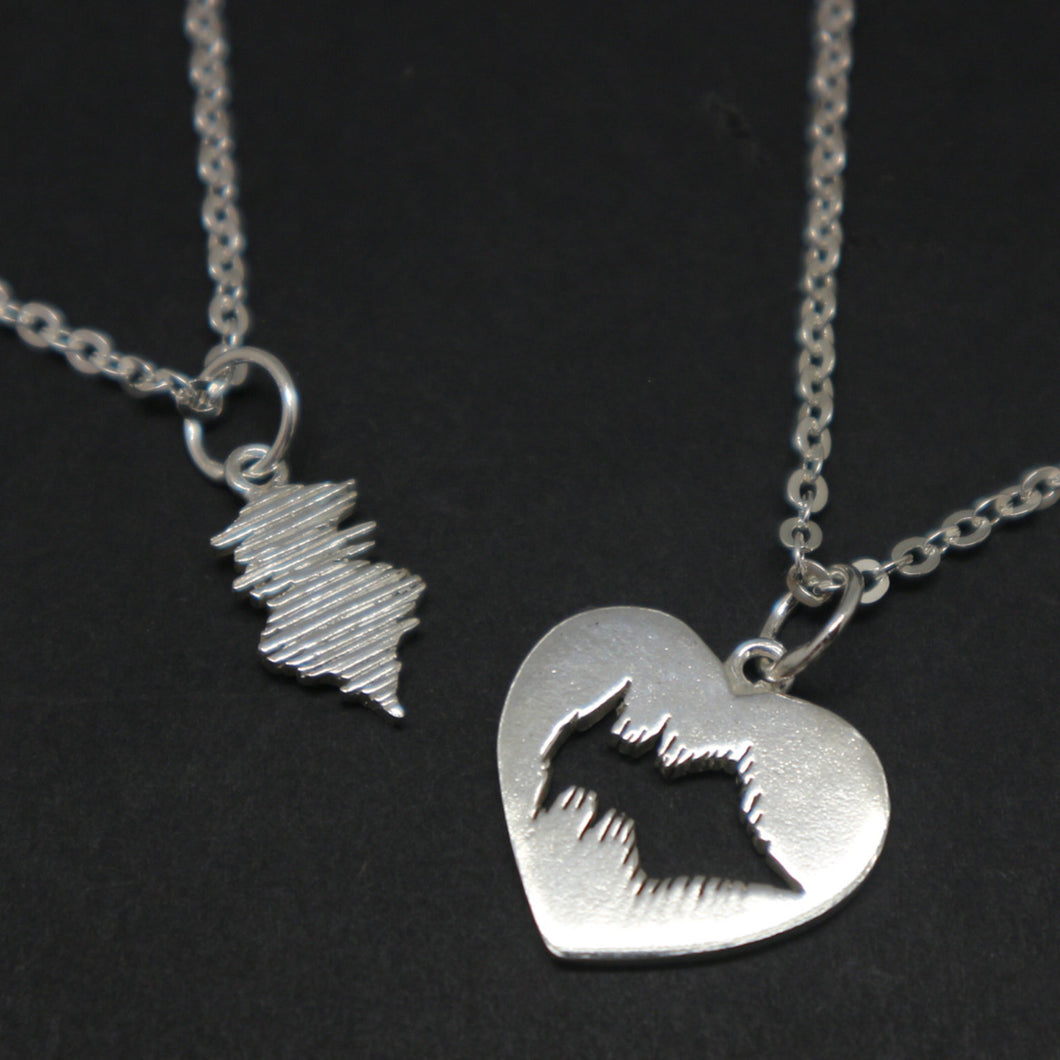 Personalized Soundwave Voice Recording Necklace