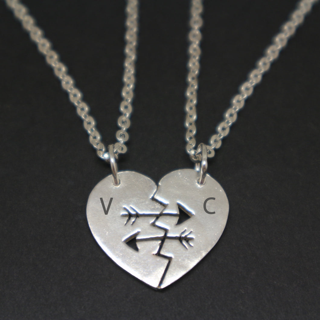 Arrow Best Friend Couple Necklace