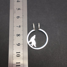 Load image into Gallery viewer, Silver Wolf Ring Holder Necklace