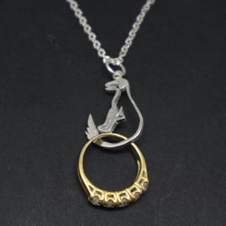 Dog Wedding Ring Holder Necklace