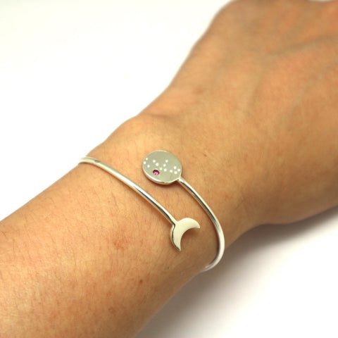 Virgo Constellation and Moon Bracelet