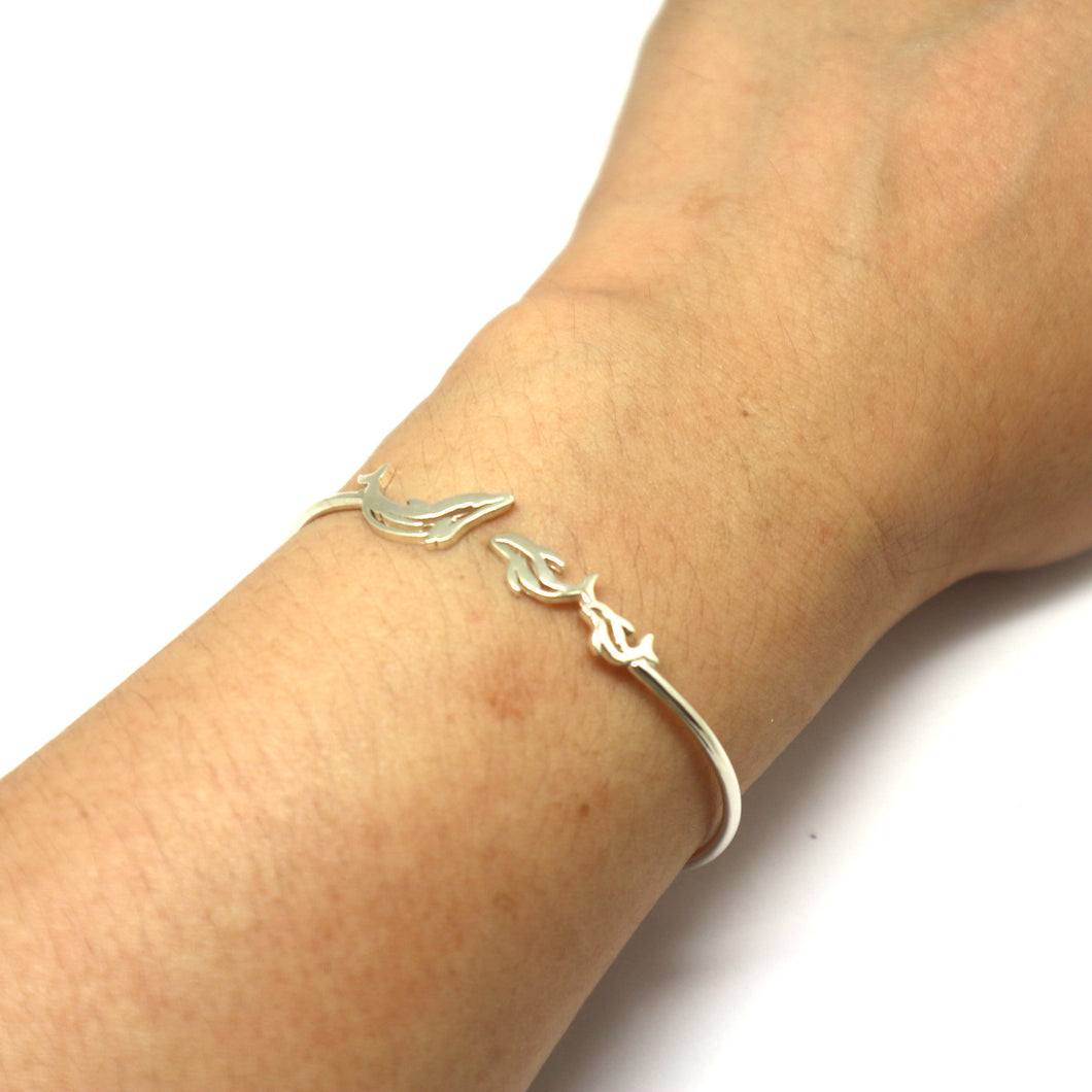 Mother and Child Dolphin Bracelet