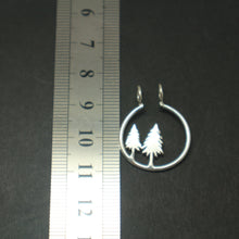 Load image into Gallery viewer, Silver Pine Tree Ring Holder Necklace
