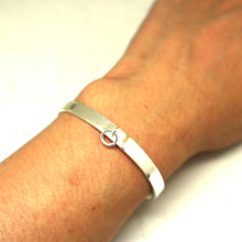 Load image into Gallery viewer, 7mm Silver Ring of O Bdsm Bangle Bracelet