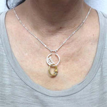 Load image into Gallery viewer, Lotus Flower Ring Holder Necklace