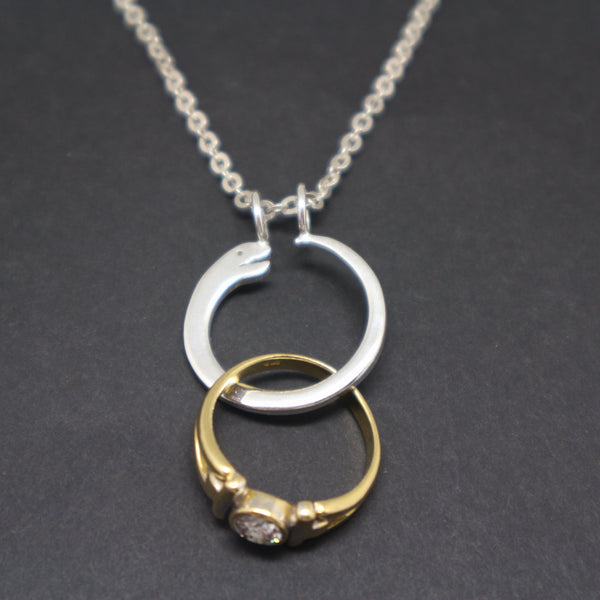 Ouroboros Snake Ring Holder Necklace