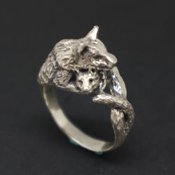 Mother Wolf Holding Cub Ring