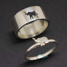 Load image into Gallery viewer, Elephant Engagement Ring Set