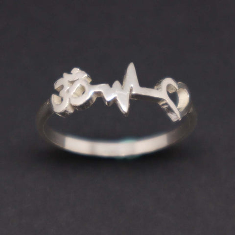 Om Heartbeat Namaste Ring