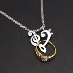 Music Note Ring Holder Necklace
