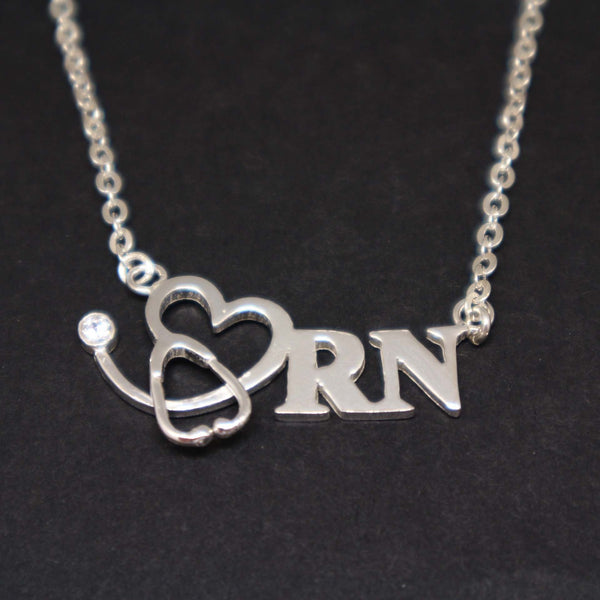 Registered Nurse Stethoscope Necklace