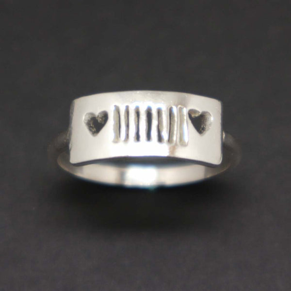Silver Jeep and Heart Ring