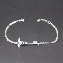 Load image into Gallery viewer, Silver Nurse Caduceus Key Bracelet