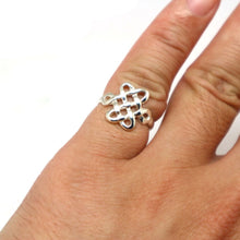 Load image into Gallery viewer, Silver Mystic Knot Ring