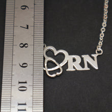 Load image into Gallery viewer, Registered Nurse Stethoscope Necklace