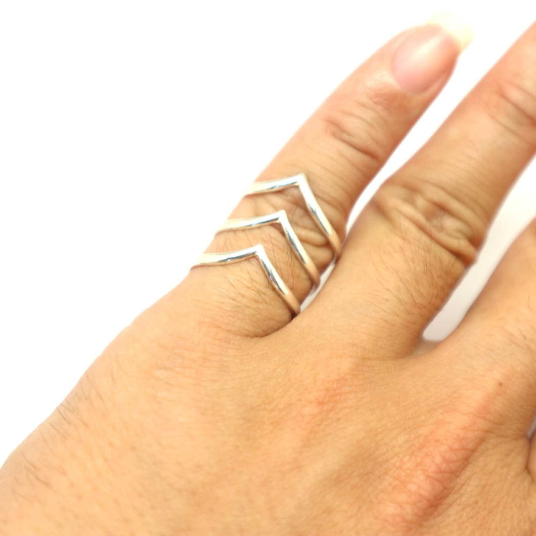 Set of 3 Chevron Ring