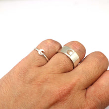 Load image into Gallery viewer, Silver Moon Couple Rings Set