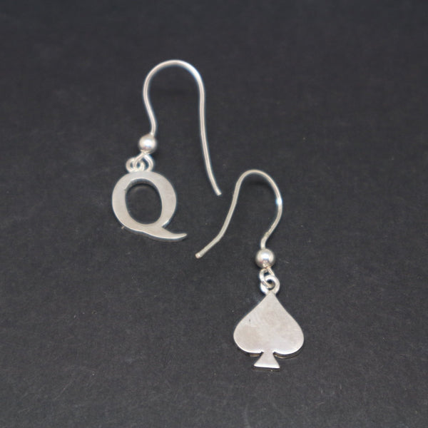 Bdsm Queen of Spades Earring
