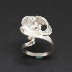 Silver Unique Wave Ring