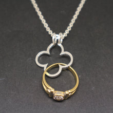 Load image into Gallery viewer, Gothic Clover Ring Holder Necklace
