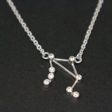 Load image into Gallery viewer, Sterling Silver Libra Constellation Necklace